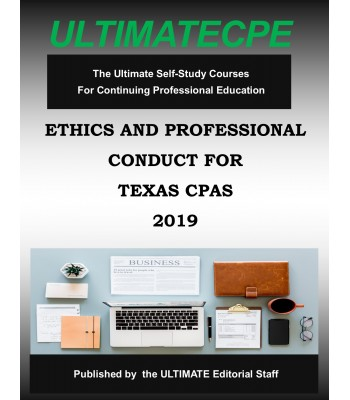 Ethics and Professional Conduct for Texas CPAs 2019