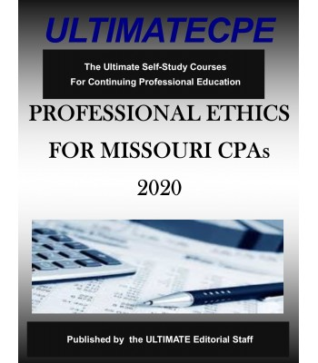 Professional Ethics for Missouri CPAs 2020