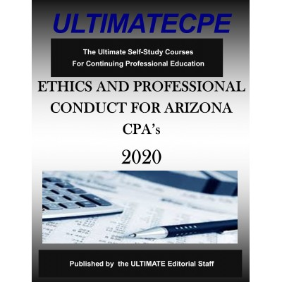 Ethics and Professional Conduct for Arizona CPAs 2020