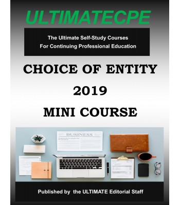 Choice Of Entity 2019 Mini Course