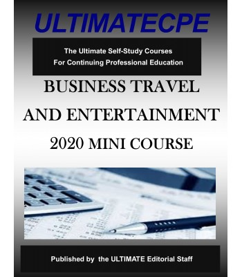 Business Travel and Entertainment 2020 Mini Course