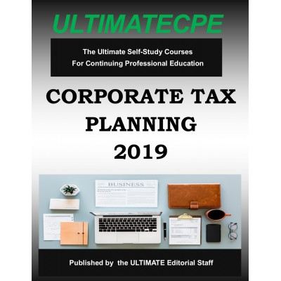 Corporate Tax Planning 2019