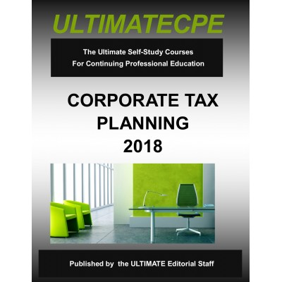 Corporate Tax Planning 2018