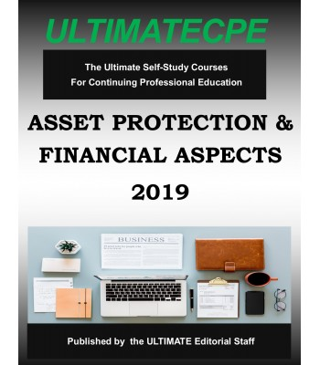 Asset Protection Tax and Financial Aspects 2019