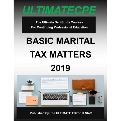 Basic Marital Tax Matters 2019 Mini Course