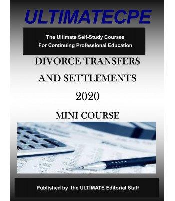 Divorce Transfers and Settlements 2020 Mini Course