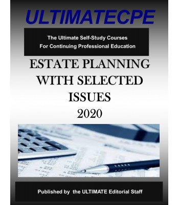 Estate Planning With Selected Issues 2020