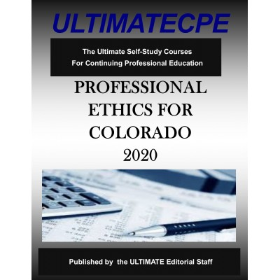 Professional Ethics for Colorado CPAs 2020