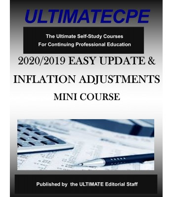 2020/2019 Easy Update & Inflation Adjustments Mini-Course