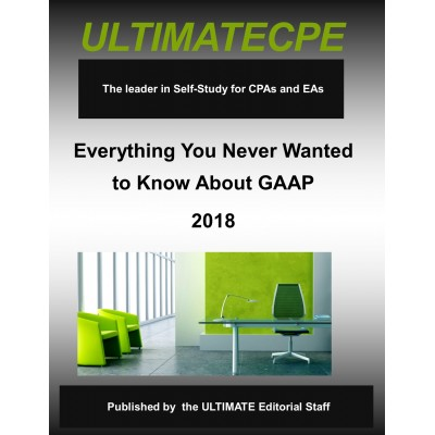 Everything You Never Wanted To Know About GAAP 2018