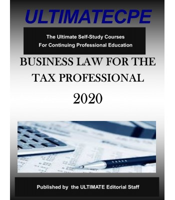 Business Law for the Tax Professional 2020
