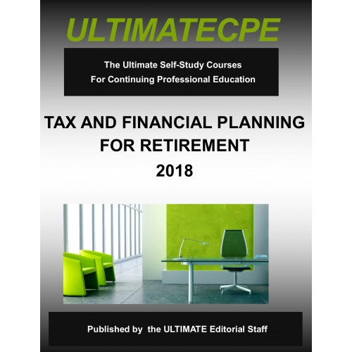 tax and financial planning for retirement 2018