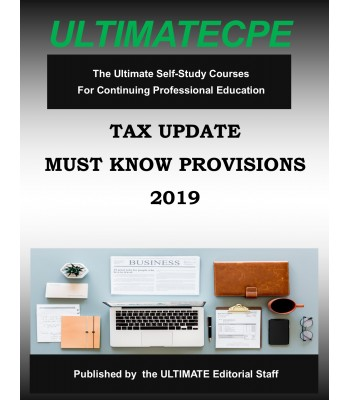 Tax Update Must Know Provisions 2019