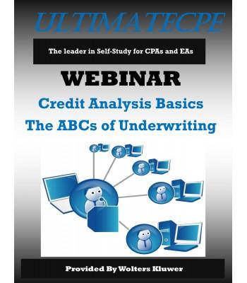 Credit Analysis Basics The ABCs of Underwriting