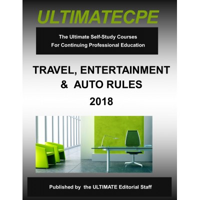 Travel, Entertainment and Auto Rules 2018