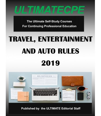 Travel, Entertainment and Auto Rules 2019