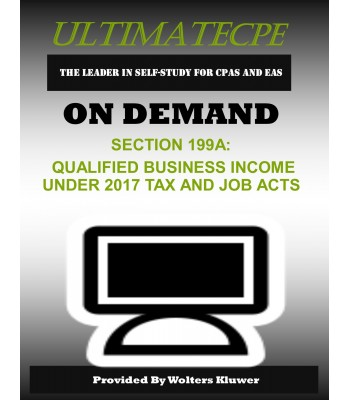 Section 199A Qualified Business Income Under 2017 Tax Cuts and Jobs Act