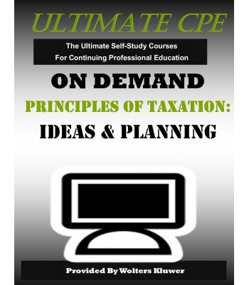 Principles of Taxation: Ideas and Planning
