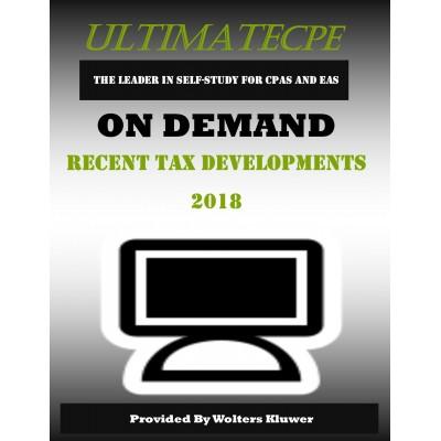 Recent Tax Developments