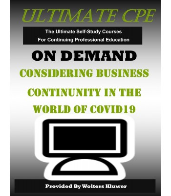 Considering Business Continuity in the World of COVID-19