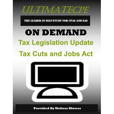 Tax Legislation Update Tax Cuts and Jobs Act