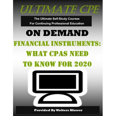 Financial Instruments: What CPAs Need to Know for 2020