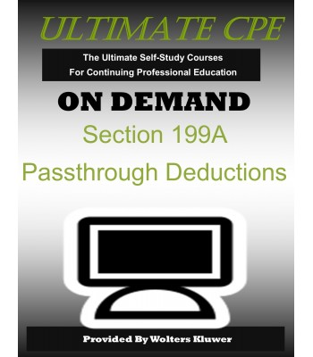 Section 199A Passthrough Deductions