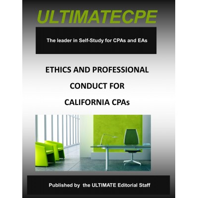 Ethics and Professional Conduct for California CPAs 2017-18