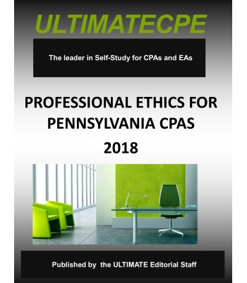 Professional Ethics for Pennsylvania CPAs: 2018