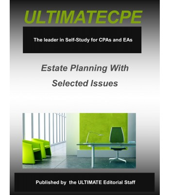 Estate Planning With Selected Issues 2017