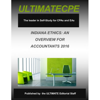 Indiana Ethics: An Overview For Accountants 2016