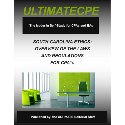 Ethics for South Carolina: Overview of the Laws and Regulations for CPAs