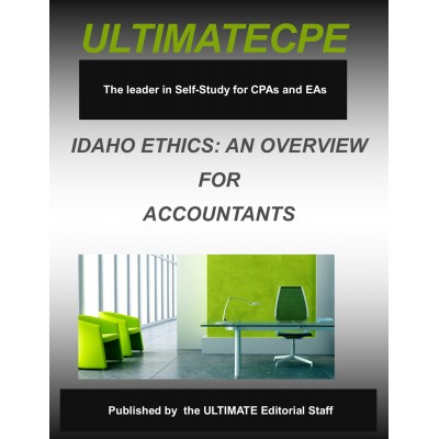 Idaho Ethics: An Overview for Accountants 2017