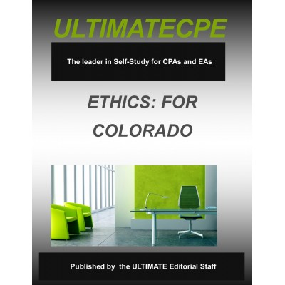 Professional Ethics for Colorado CPAs 2017