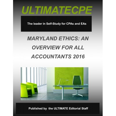 Maryland Ethics: An Overview For All Accountants 2016